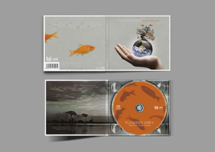 Jessica Mewes Design CD Digipack Flowers Grey Band Selfish Shellfish TMG Records Döhlau