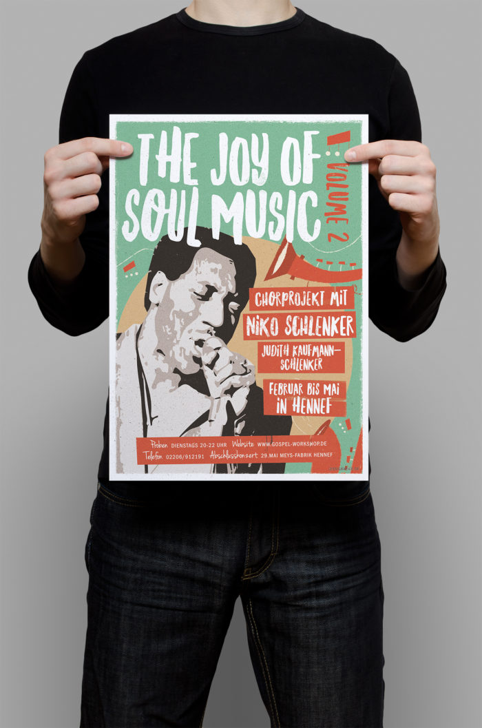 Jessica Mewes Design Plakat Poster The Joy Of Soul Music Niko Schlenker Schlenkermusic Gospel