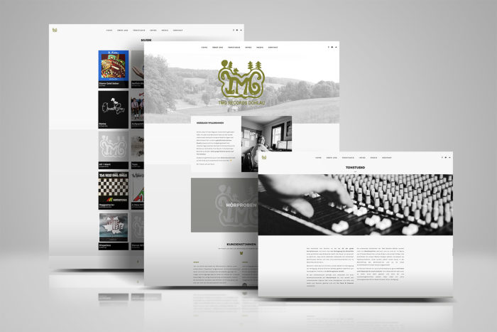 JessicaMewes Design Website Homepage Webdesign tmgrecords